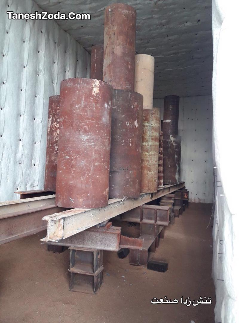 ساخت کوره در محل و تنش زدائی قطعات سنگین ایران-لرستان