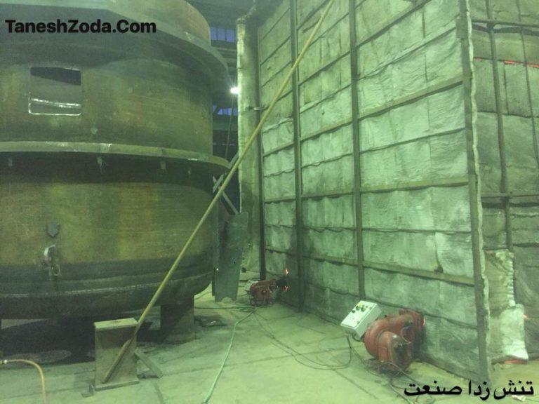 ساخت کوره و تنش زدائی پاتیل ایران-تهران
